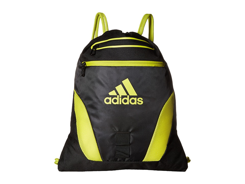 adidas - Rumble Sackpack (Black/Shock Slime) Bags