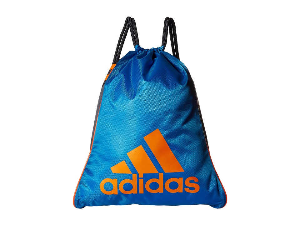adidas - Burst Sackpack (Bright Blue/Deepest Space/Solar Orange) Bags