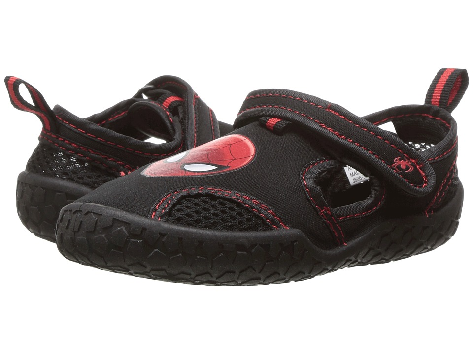 Favorite Characters - Spiderman Watershoe SPS151 (Toddler/Little Kid) (Black/Red) Boy's Shoes