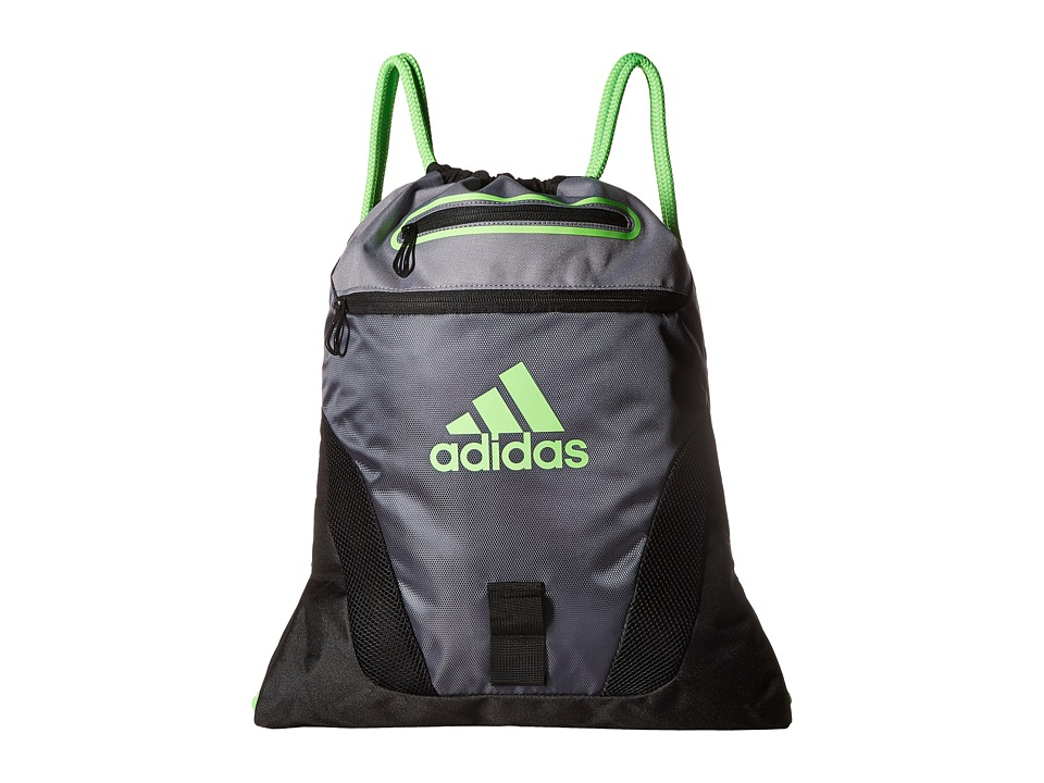 adidas - Rumble Sackpack (Deepest Space/Black/Grey/Solar Green) Bags