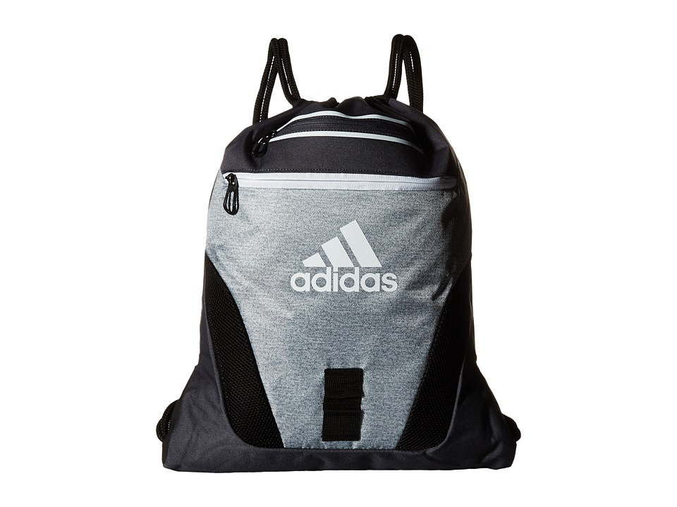 adidas - Rumble Sackpack (Heather Clear Grey/Deepest Space Grey/Black/White) Bags