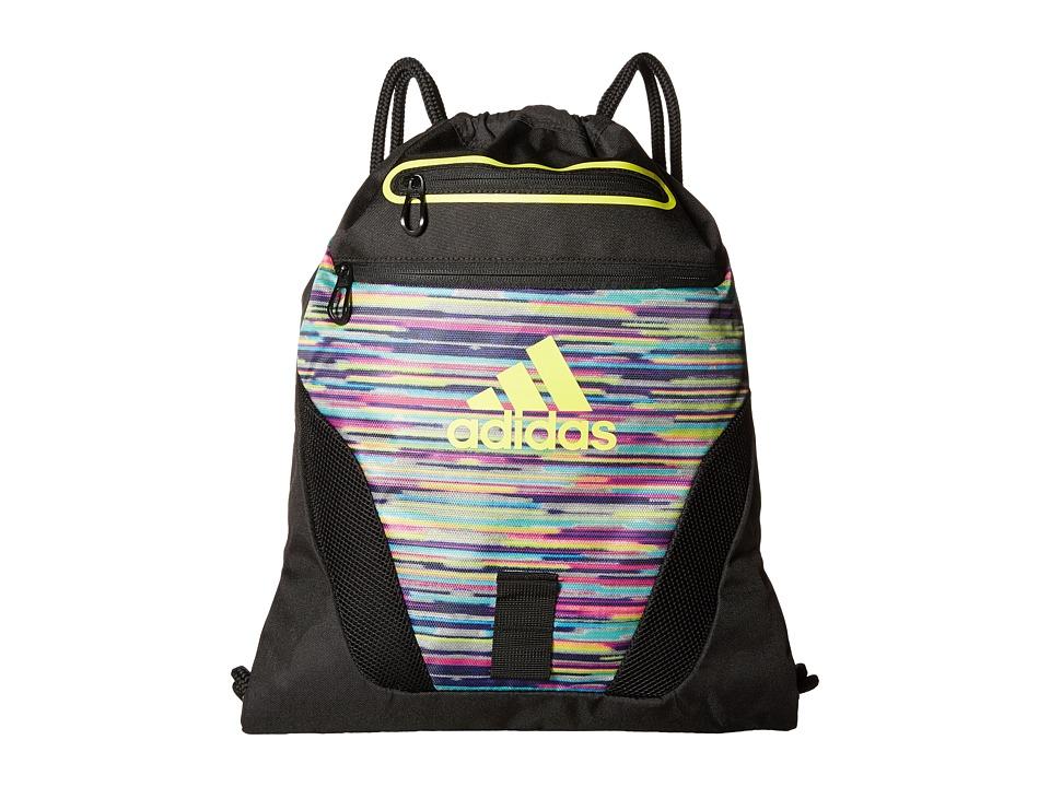 adidas - Rumble Sackpack (Skyler Shock Pink/Black/Shock Slime) Bags