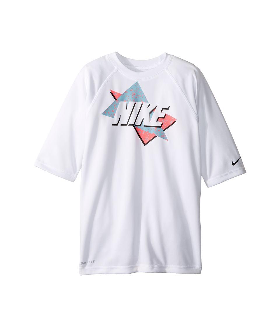 Nike Kids Throwback Short Sleeve UV Top (Big Kids) (White) Boy