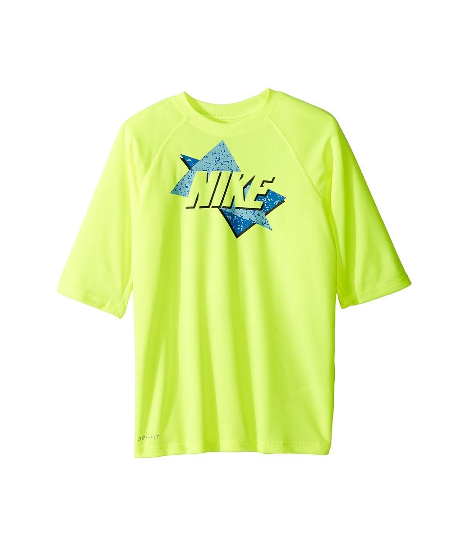 Nike Kids Throwback Short Sleeve UV Top (Big Kids) (Volt) Boy