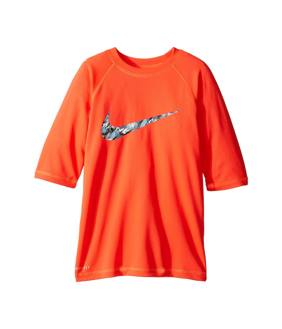Nike Kids - Watercamo Short Sleeve Hydro Top (Big Kids) (Bright Crimson) Boy's Swimwear