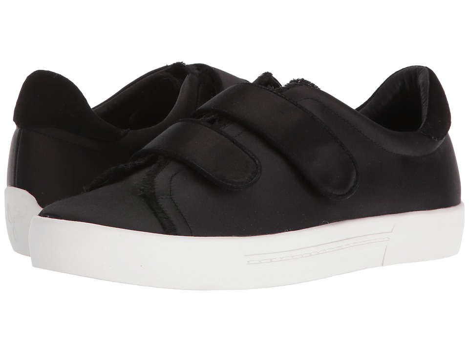 Joie - Diata (Black Frayed Edge Satin) Women's Hook and Loop Shoes