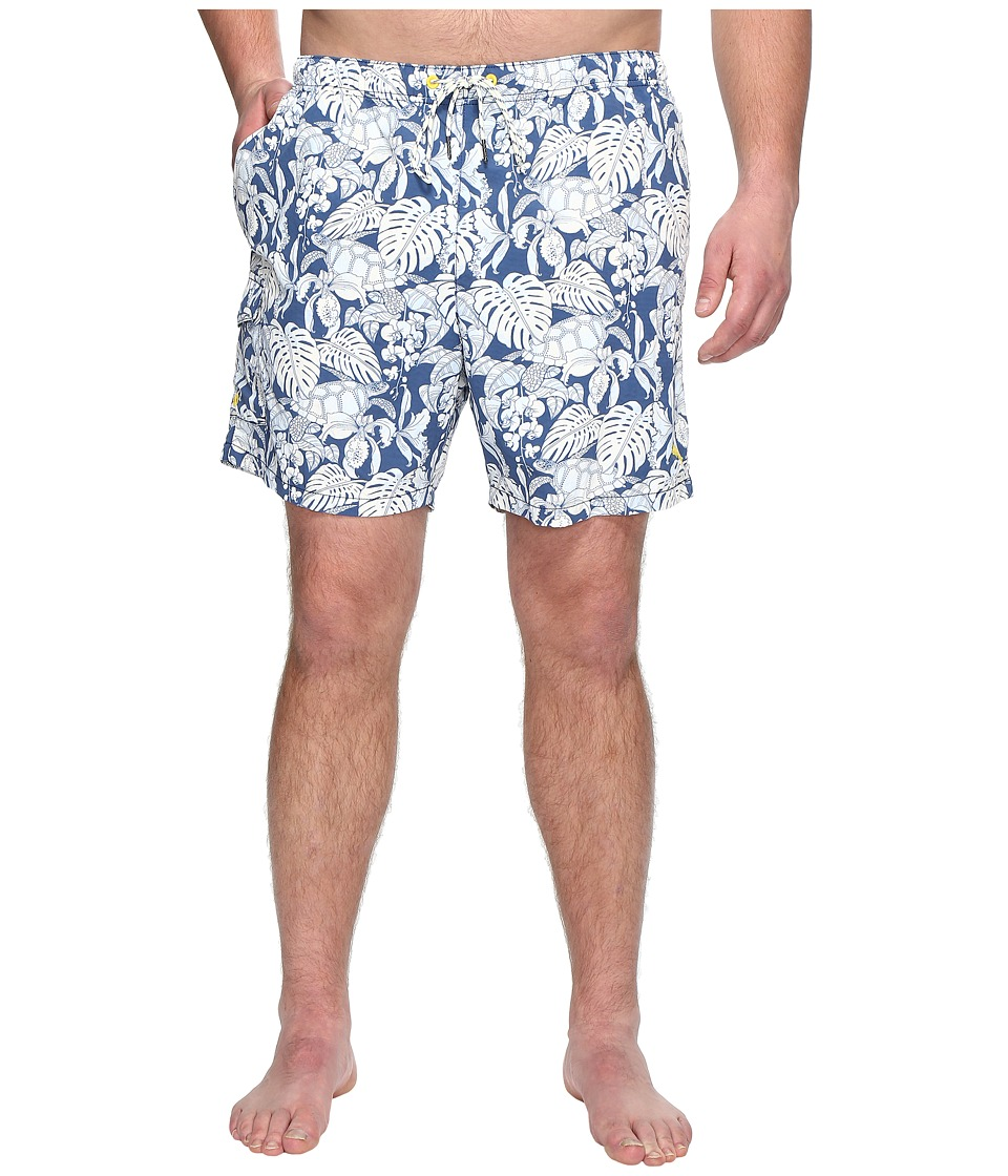 Tommy Bahama Big & Tall - Big Tall Naples Turtle Cove (Bering Blue) Men's Swimwear
