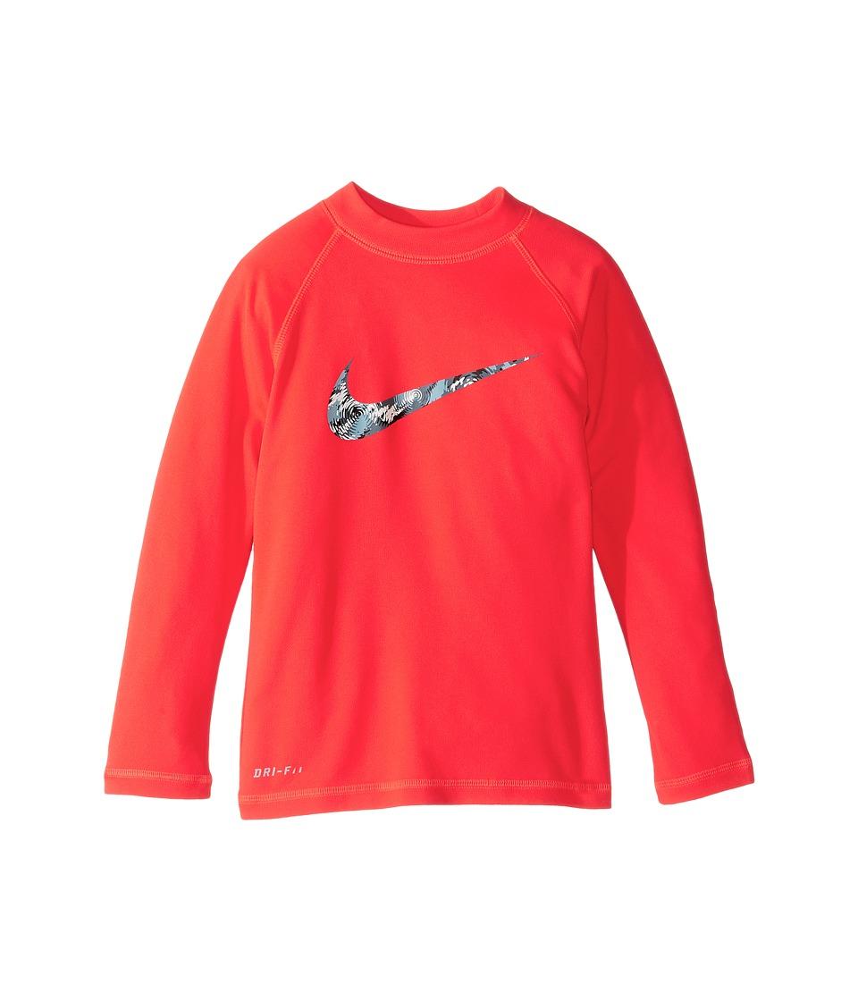 Nike Kids Watercamo Long Sleeve Hydro Top (Little Kids) (Bright Crimson) Boy