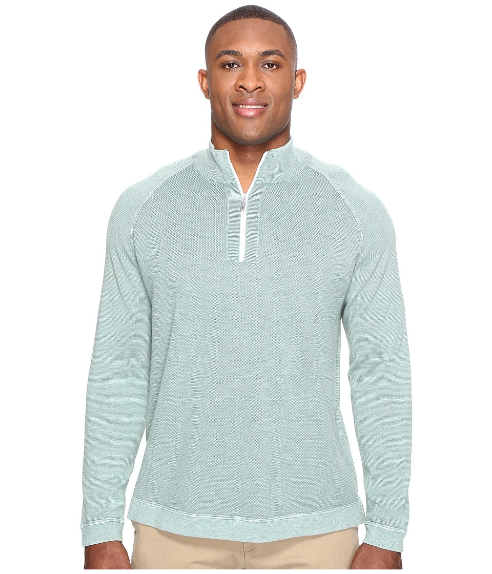 Tommy Bahama Big & Tall - Big Tall Saltwater Tide 1/2 Zip (Key Largo Green) Men's Clothing