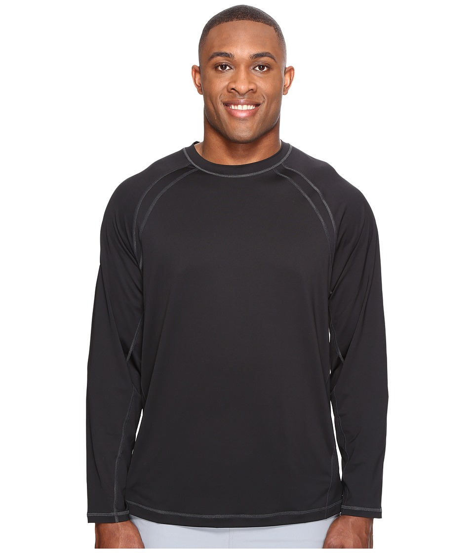 Tommy Bahama Big & Tall - Big Tall Surf Chaser Long Sleeve Crew (Black) Men's Clothing
