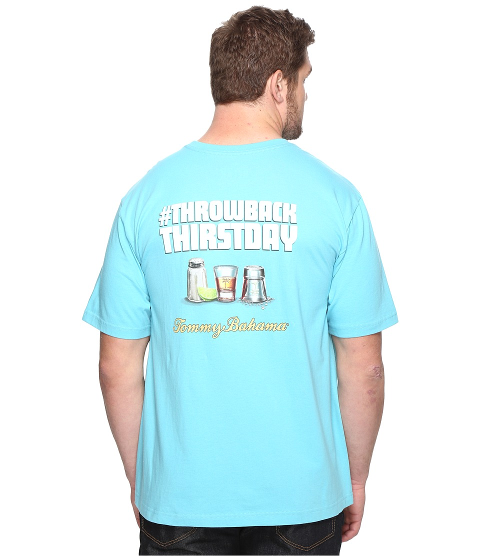 Tommy Bahama Big & Tall - Big Tall Throwback Thirstday Tee (Maui Blue) Men's T Shirt