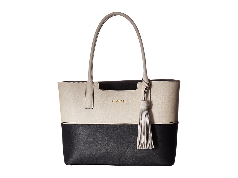 Calvin Klein - Key Item Tote H3GB11NB (Wheat/Black Block) Tote Handbags