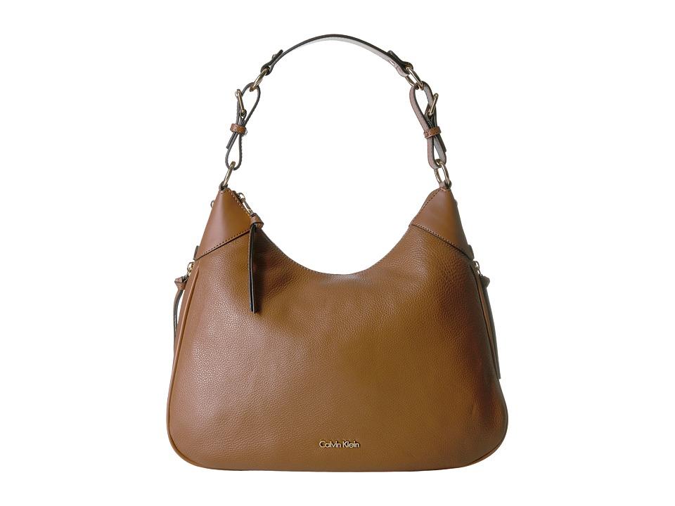 Calvin Klein - Classics Pebble Hobo (Luggage) Hobo Handbags