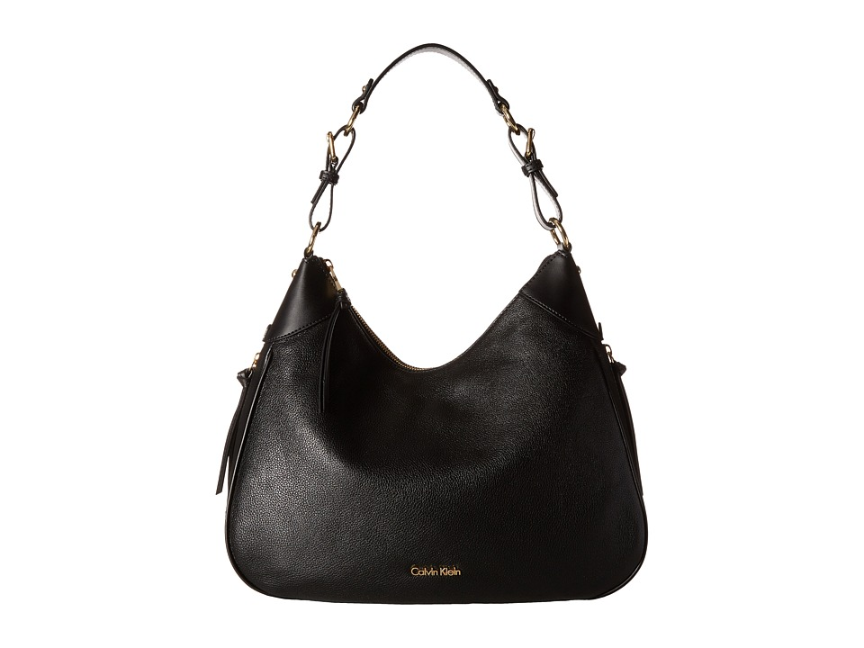 Calvin Klein - Classics Pebble Hobo (Black) Hobo Handbags
