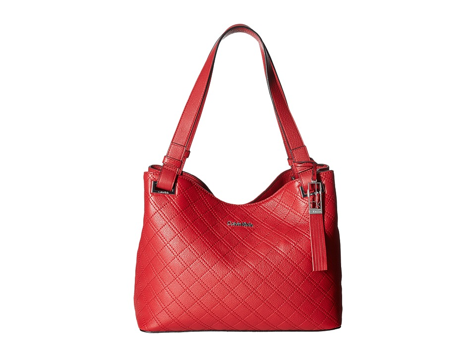 Calvin Klein - Permanent Pebble Shopper (Red) Handbags