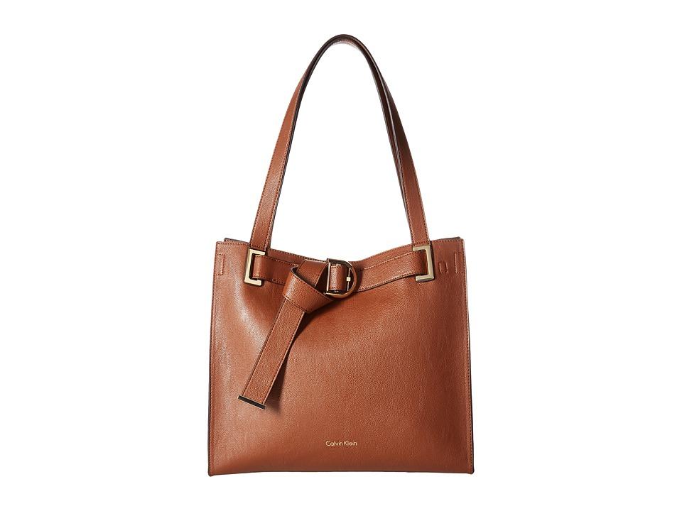 Calvin Klein - Nola Jetlink Tote (Luggage/Black) Tote Handbags