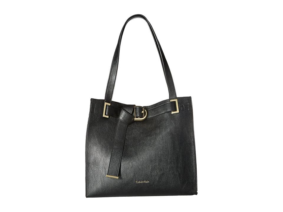 Calvin Klein - Nola Jetlink Tote (Black/Black) Tote Handbags