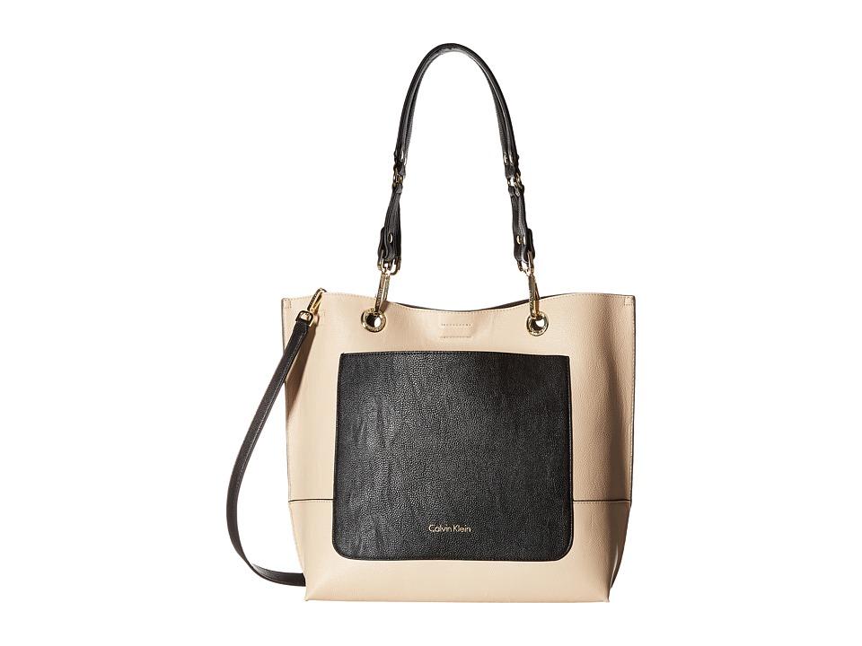 Calvin Klein - Sonoma Jetlink Tote (Wheat/Black) Tote Handbags