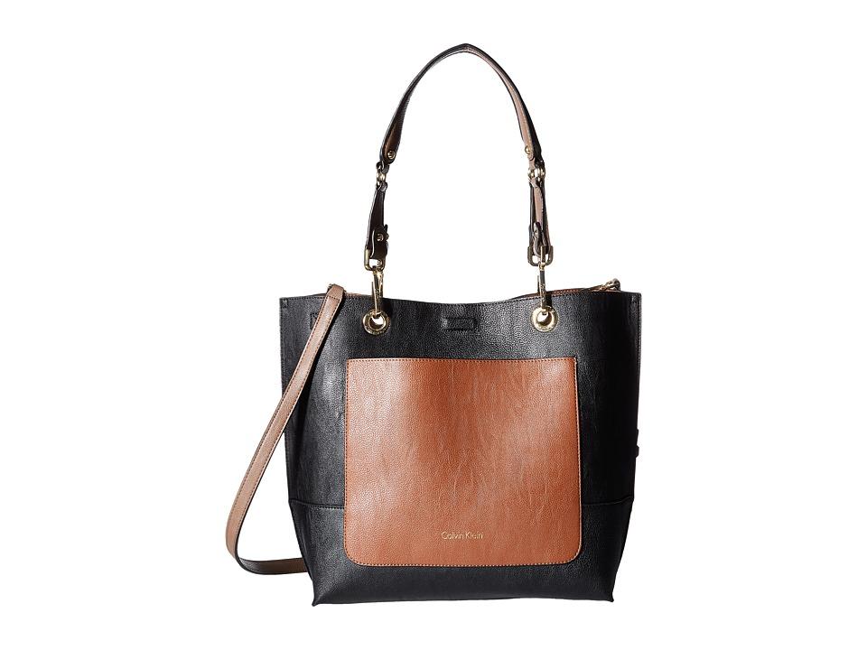 Calvin Klein - Sonoma Jetlink Tote (Black/Luggage) Tote Handbags