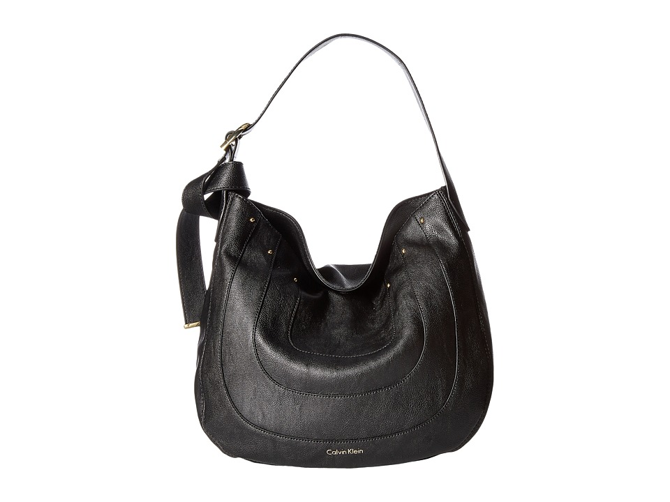 Calvin Klein - Nola Jetlink Hobo (Black/Gold) Hobo Handbags
