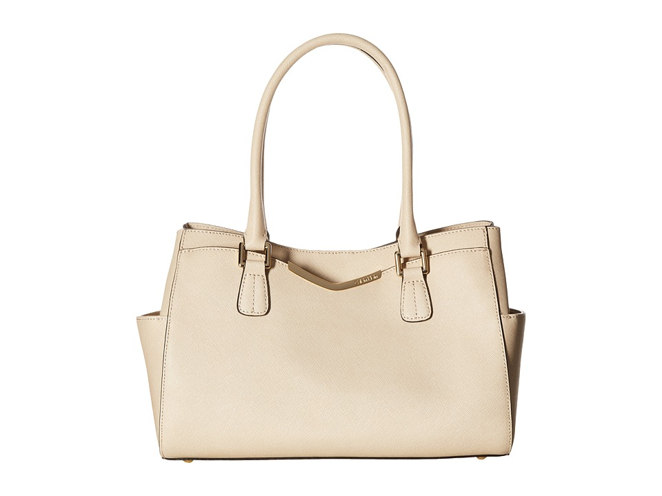 Calvin Klein - On My Corner Saffiano Satchel (Wheat) Satchel Handbags