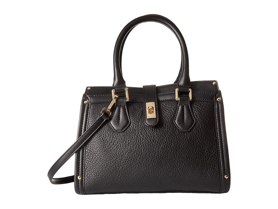 Calvin Klein - Laiken Pebble Satchel (Black/Gold) Satchel Handbags