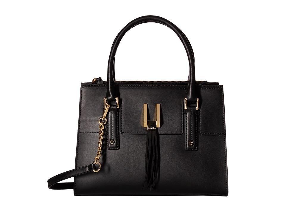 Calvin Klein - Rae Serena Satchel (Black/Gold) Satchel Handbags