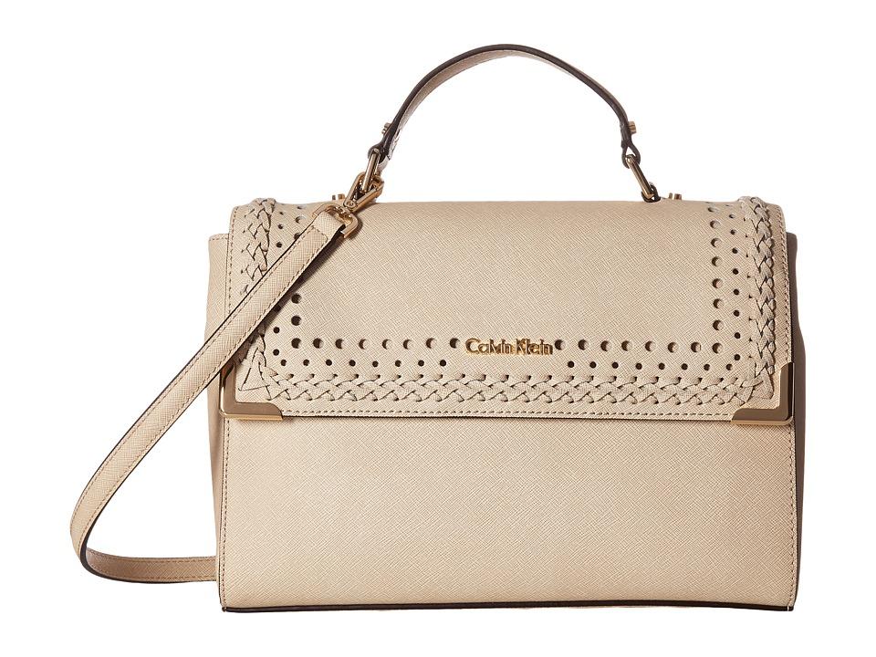 Calvin Klein - On My Corner Saffiano Satchel (Wheat Braid) Satchel Handbags