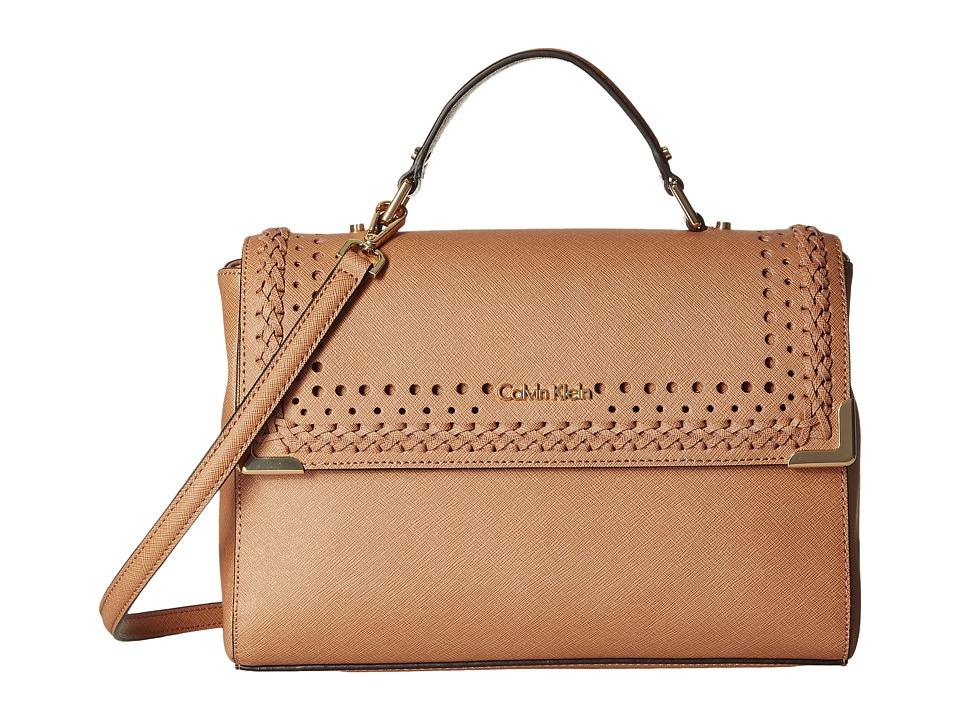 Calvin Klein - On My Corner Saffiano Satchel (Cashmere Braid) Satchel Handbags