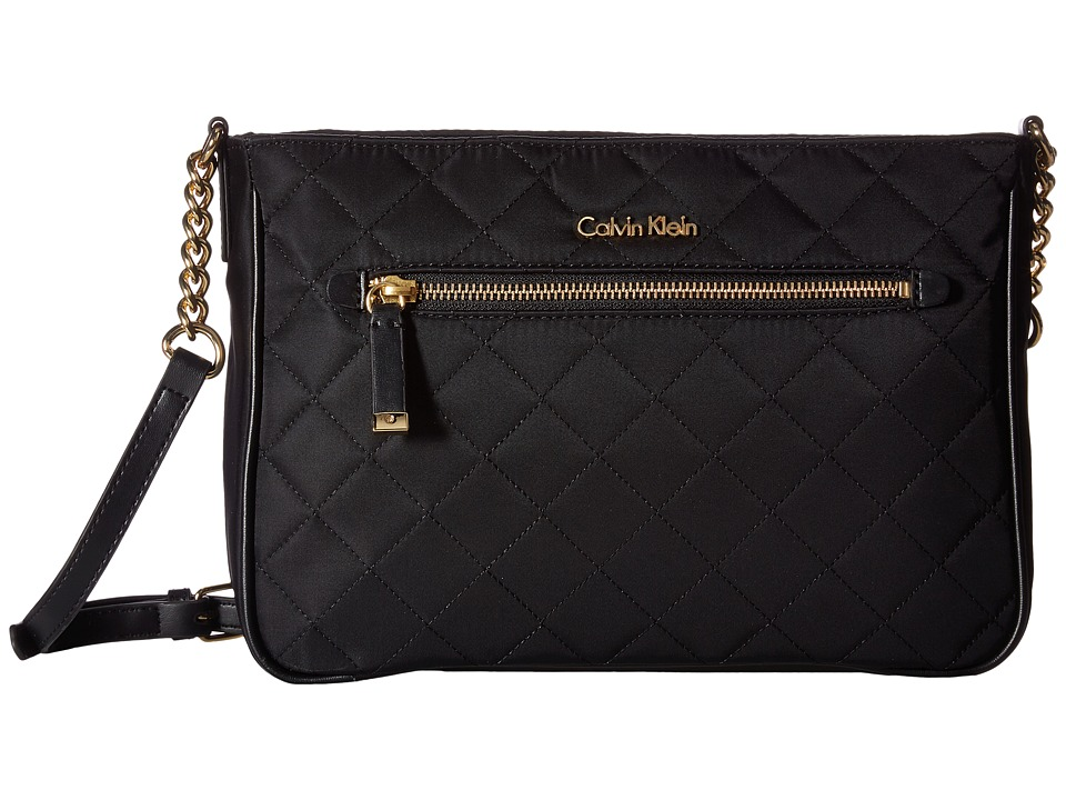 Calvin Klein - Florence Quilted Nylon Crossbody (Black Quilt) Cross Body Handbags