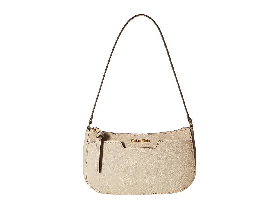 Calvin Klein - On My Corner Saffiano Demi (Wheat) Handbags