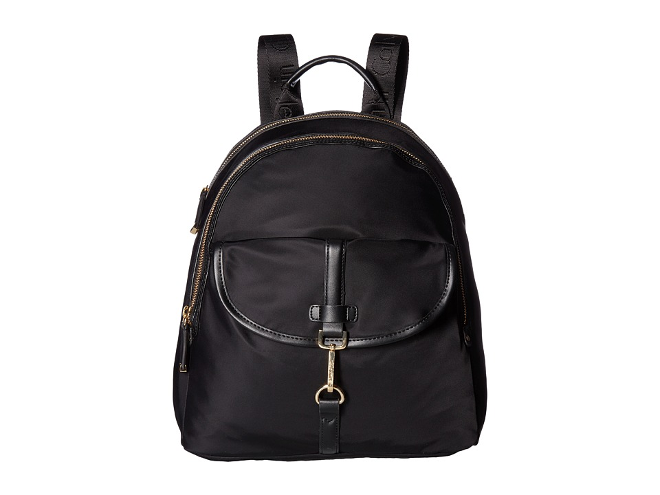 Calvin Klein - Belfast Dressy Nylon Backpack (Black/Gold) Backpack Bags
