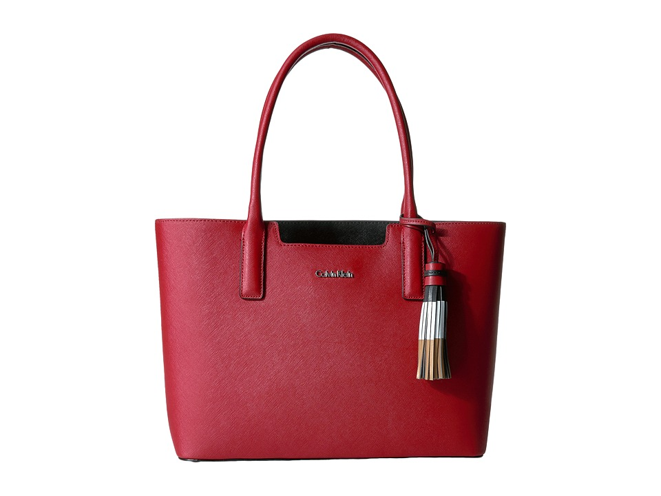 Calvin Klein - Key Item Tote H3GB11NB (Red/Black Tassel) Tote Handbags