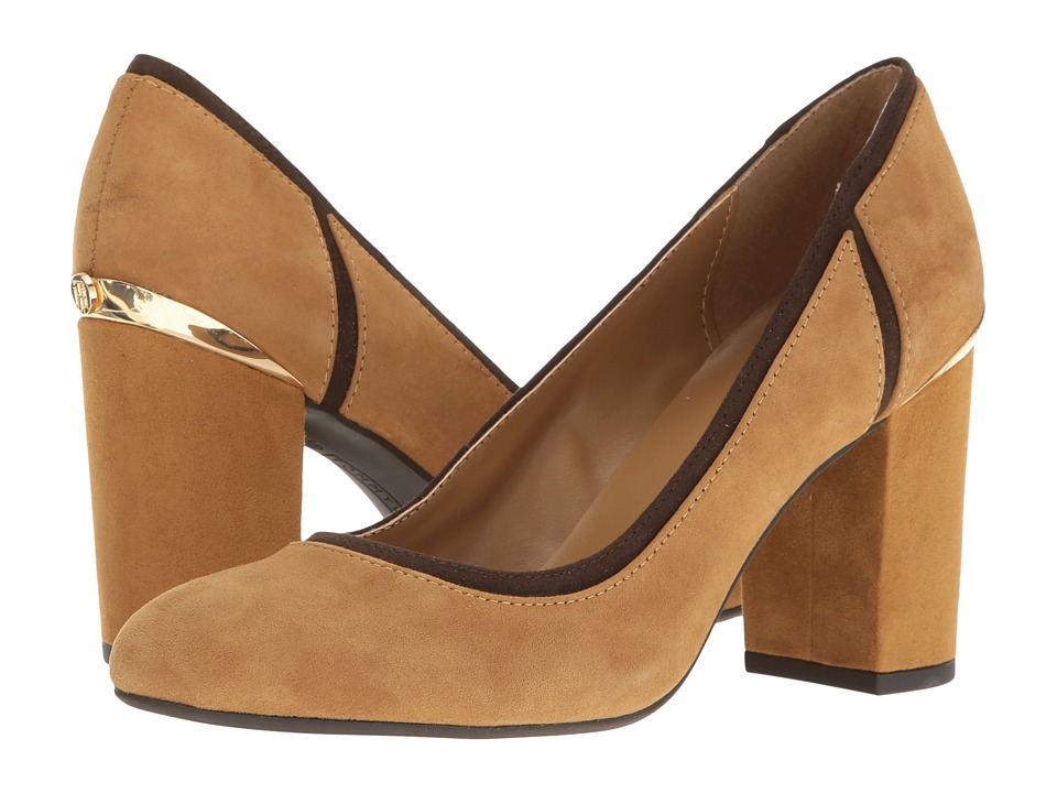 Tommy Hilfiger - Emmie (Medium Brown Suede) Women's Shoes