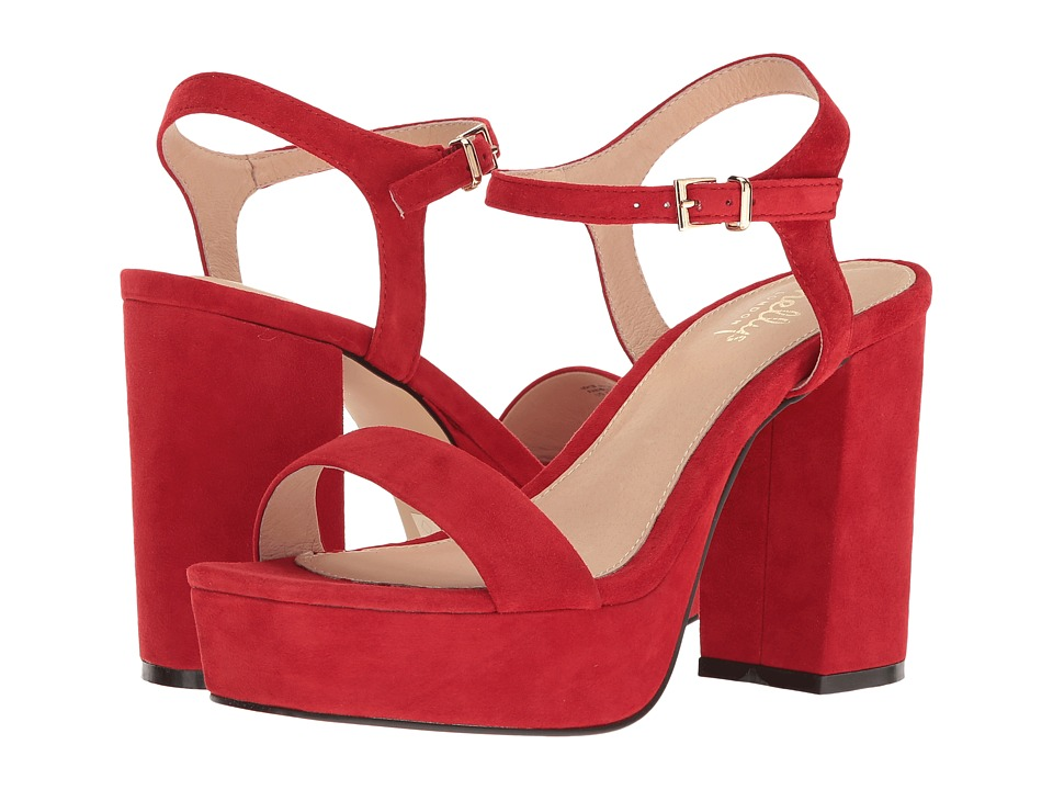 Shellys London - Billy Platform Sandal (Red Suede) High Heels