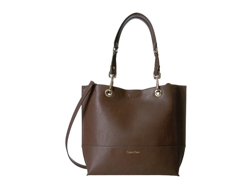 Calvin Klein - Sonoma Morris PU Tote (Oak/Black) Tote Handbags