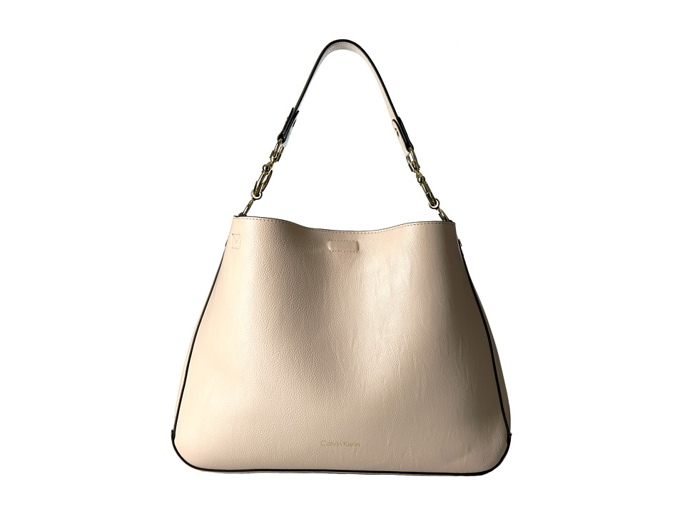 Calvin Klein - Unlined Jetlink Hobo (Wheat/Black) Hobo Handbags
