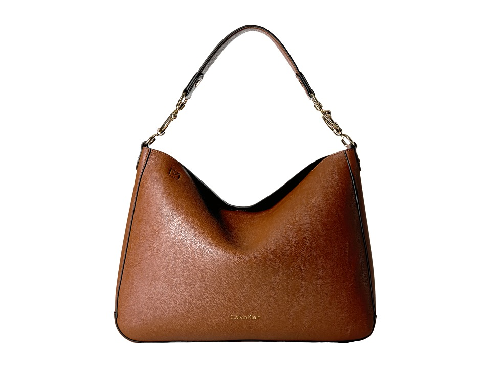 Calvin Klein - Unlined Jetlink Hobo (Luggage/Black) Hobo Handbags