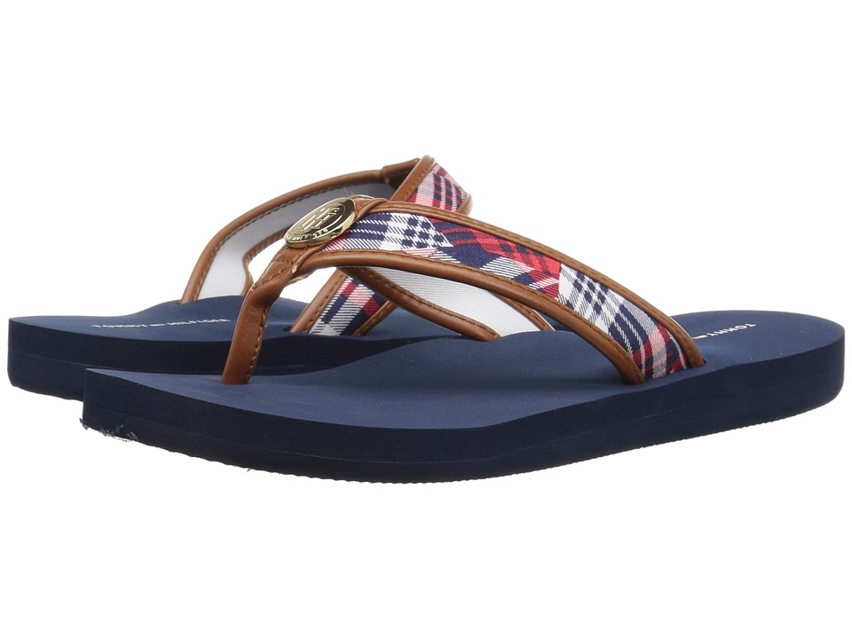 Tommy Hilfiger - Curvy 2 (Blue Multi Fabric) Women's Shoes