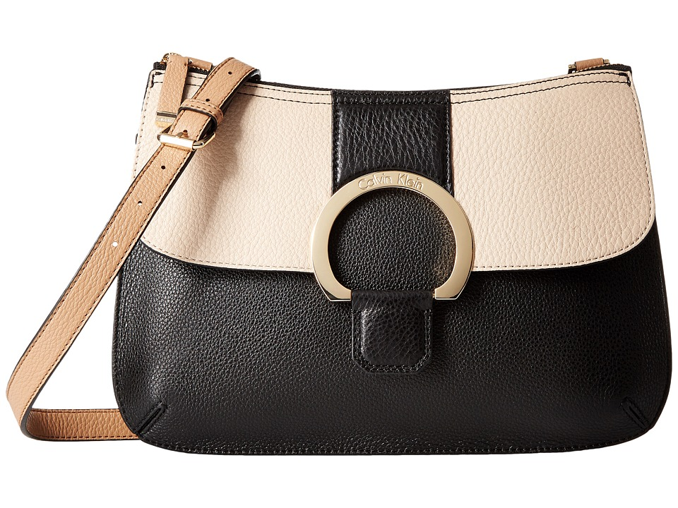 Calvin Klein - Malena Pebble Crossbody (Black Combo) Cross Body Handbags
