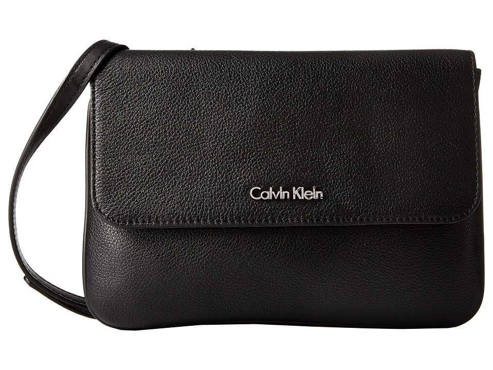 Calvin Klein - Classic Pebble Pebble Crossbody (Black/Silver) Cross Body Handbags
