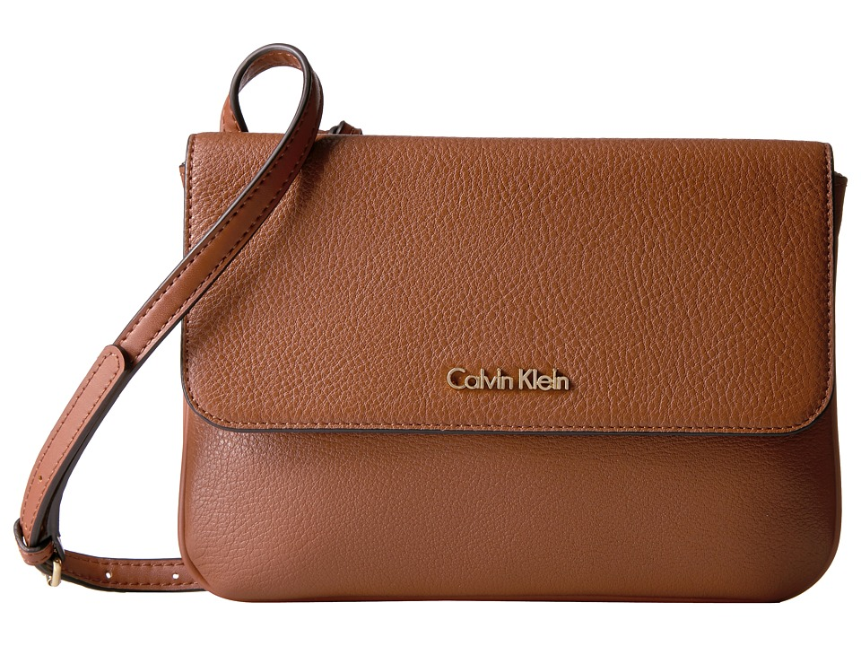 Calvin Klein - Classic Pebble Pebble Crossbody (Luggage) Cross Body Handbags