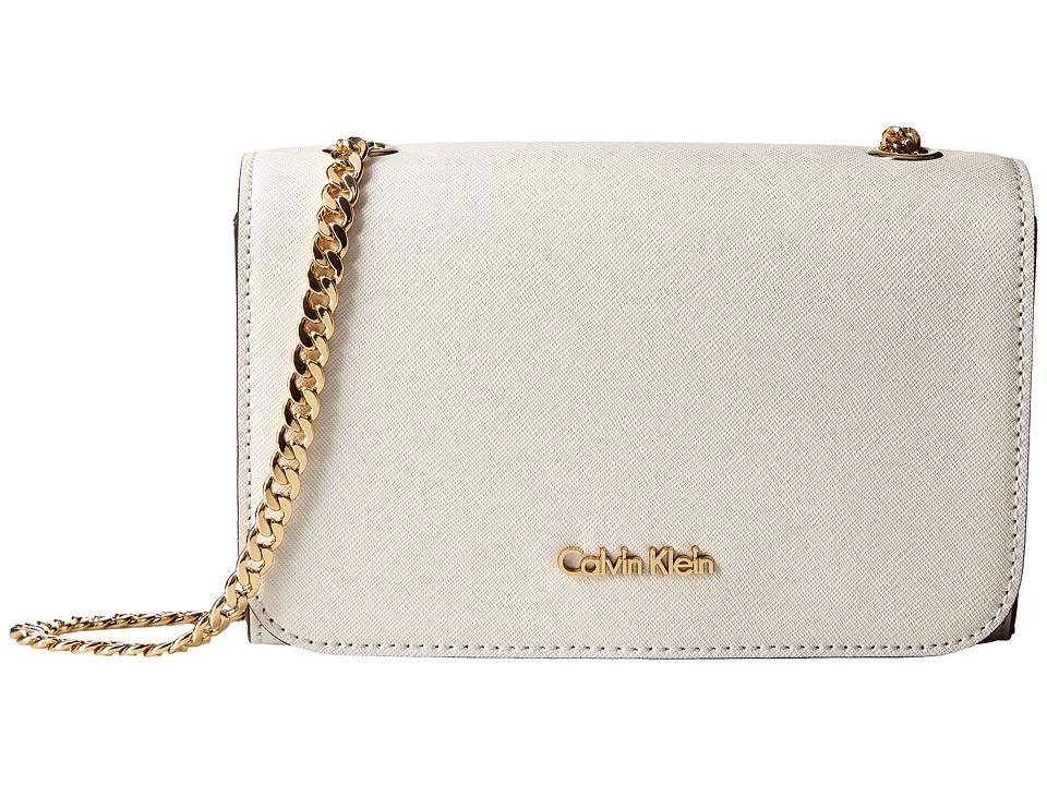 Calvin Klein - On My Corner Saffiano Crossbody (Cherub White) Cross Body Handbags