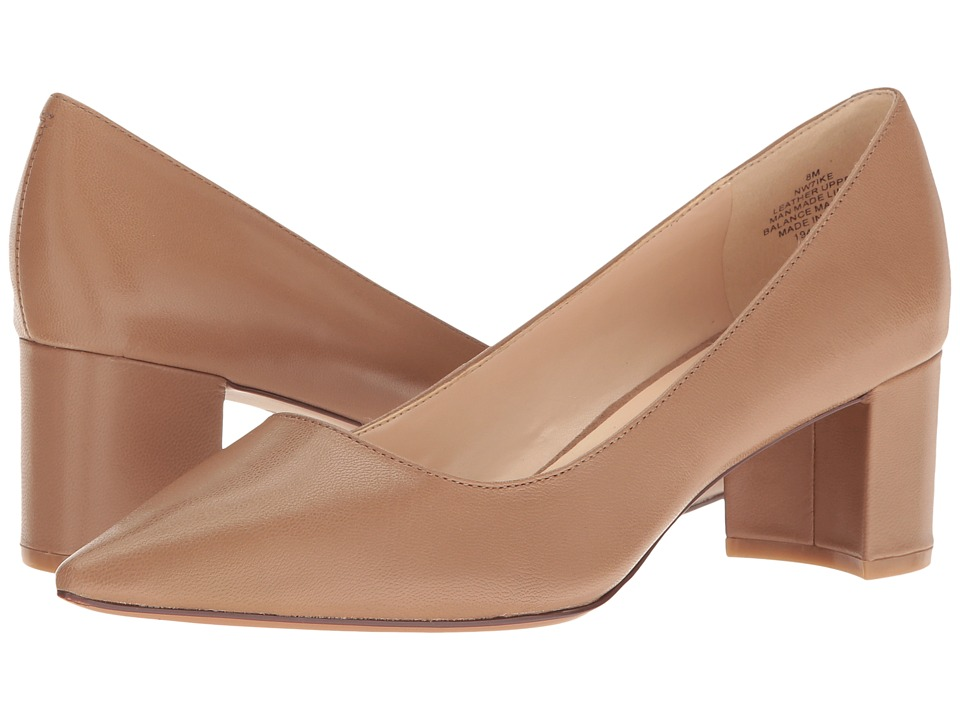 Nine West - Ike (Natural Leather) Women's 1-2 inch heel Shoes