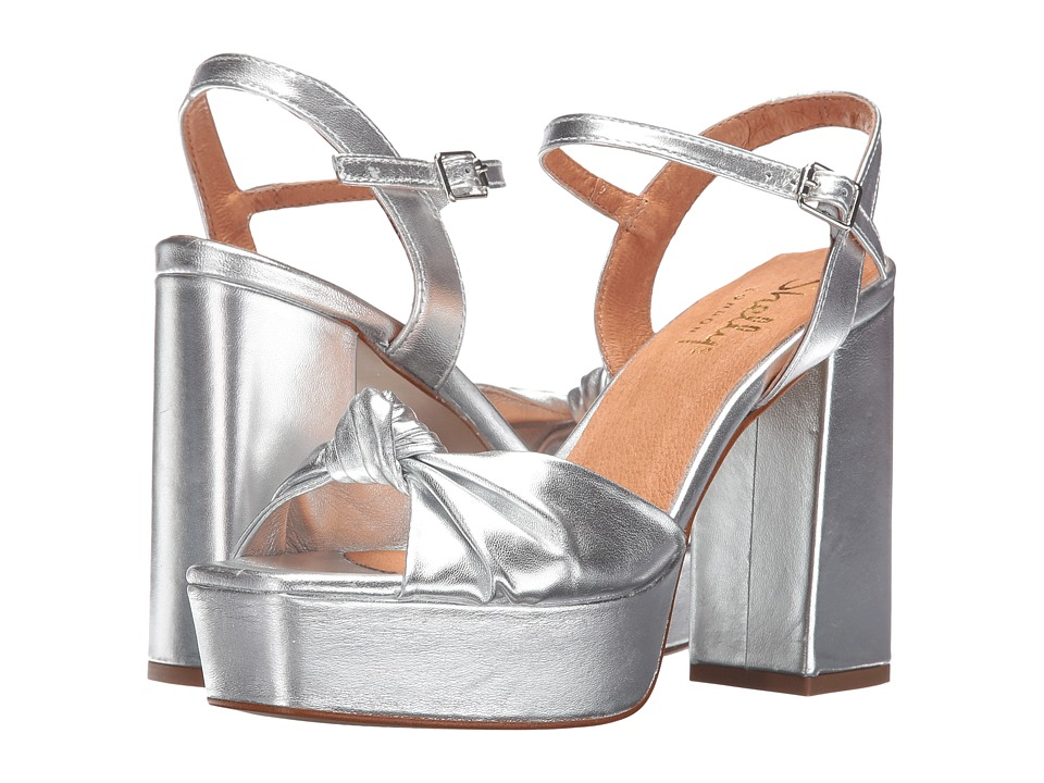 Shellys London Tripp (Silver Leather) High Heels