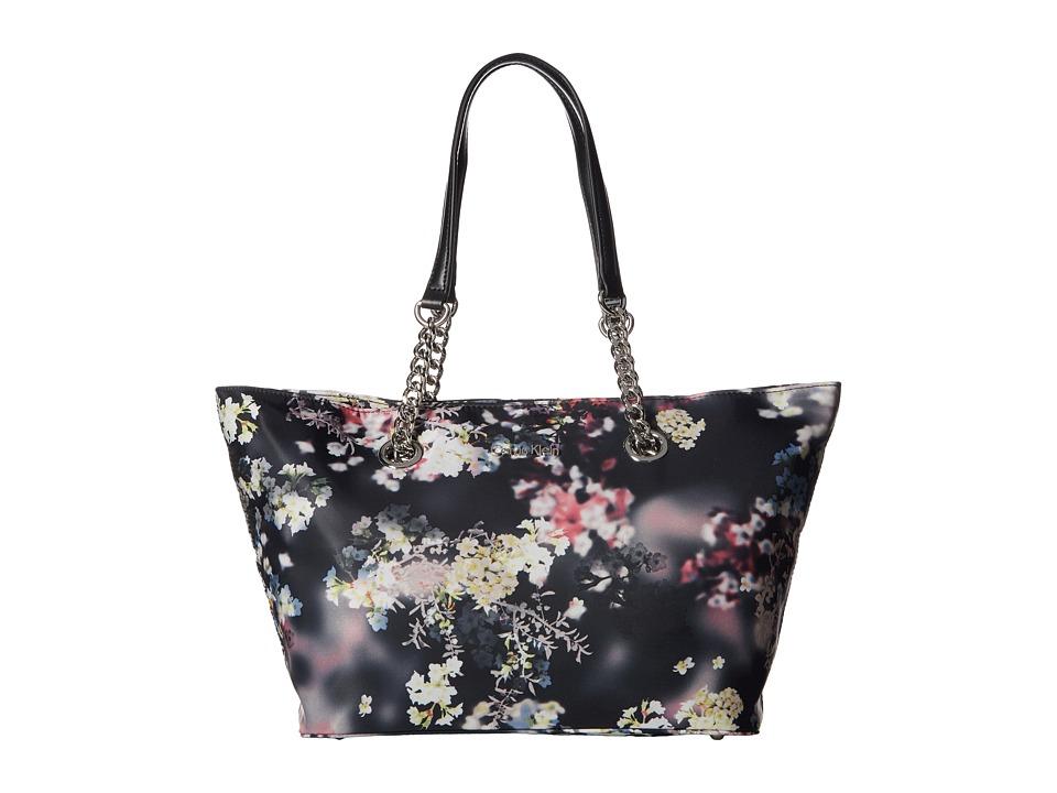 Calvin Klein - Florence Printed Nylon Tote (Black Kimono Floral) Tote Handbags