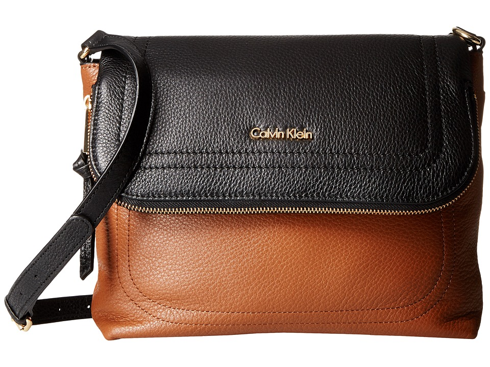 Calvin Klein - Classic Pebble Pebble Messenger (Luggage/Black) Messenger Bags