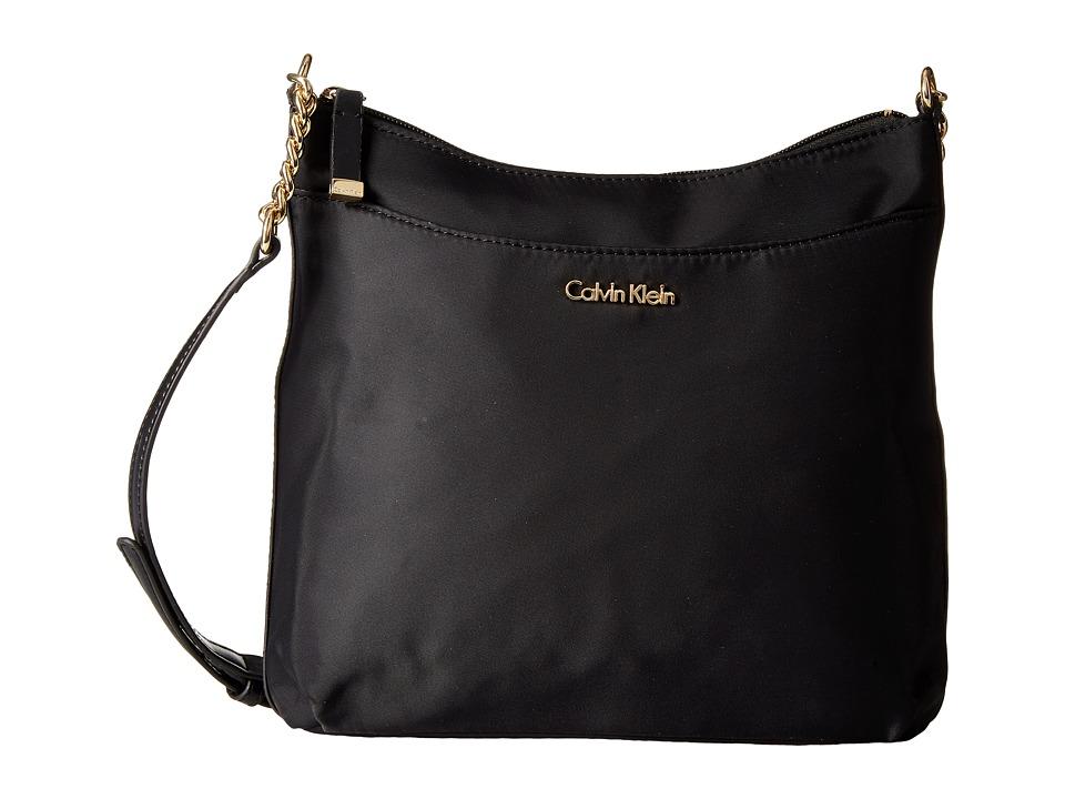 Calvin Klein - Florence Nylon Messenger (Black/Gold) Messenger Bags