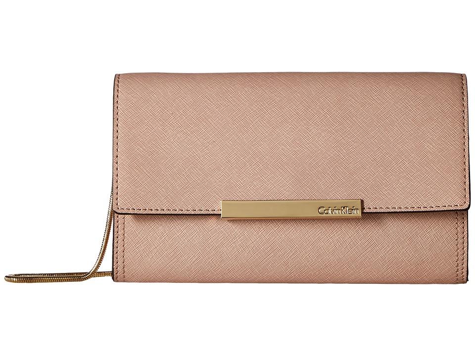 Calvin Klein Evening Saffiano Clutch (Sugarplum) Clutch Handbags