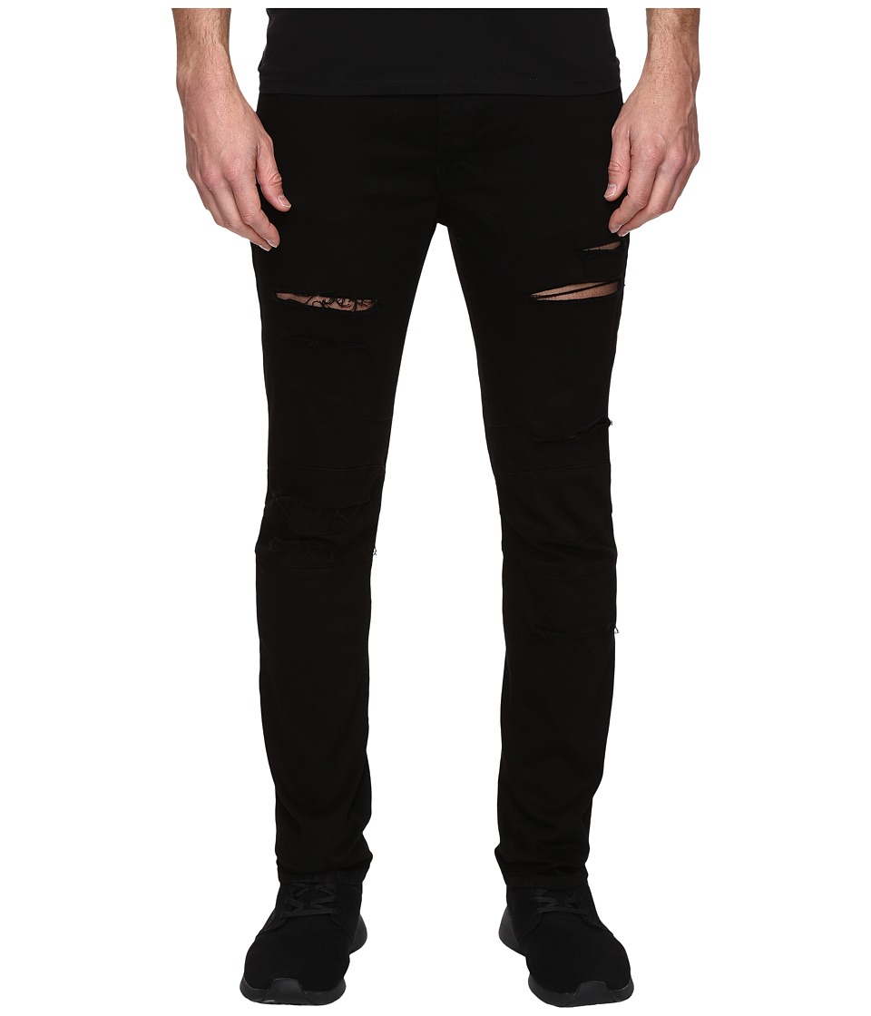 Rustic Dime - Shredded Biker Denim in Black (Black) Men's Jeans